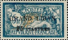 "[French Postage Stamps Surcharged & Overprinted ""GRAND LIBAN"", type B4]"