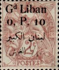 [French Postage Stamps Surcharged & Overprinted in French & Arabic, type D]