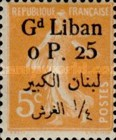 [French Postage Stamps Surcharged & Overprinted in French & Arabic, type D1]