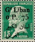 [French Postage Stamps Surcharged & Overprinted in French and Arabic, type D19]