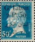 [French Postage Stamps Surcharged & Overprinted in French and Arabic, type D22]