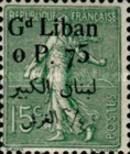 [French Postage Stamps Surcharged & Overprinted in French & Arabic, type D3]