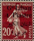 [French Postage Stamps Surcharged & Overprinted in French & Arabic, type D4]