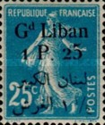 [French Postage Stamps Surcharged & Overprinted in French & Arabic, type D5]