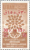[Airmail - World Refugee Year - Issues of 1960 Surcharged, Typ GV]