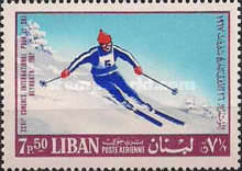 [Airmail - International Ski Congress, Beirut, Typ PJ]
