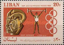 [Airmail - Olympic Games - Mexico City, Mexico, type QK]