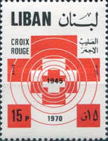 [Airmail - The 25th Anniversary of Lebanese Red Cross, Typ RN]