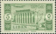 [Airmail - Temple of Bacchus at Baalbek and Litani Irrigation Canal, Typ XDU]