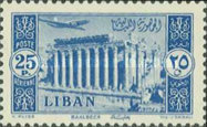 [Airmail - Temple of Bacchus at Baalbek and Litani Irrigation Canal, Typ XDU4]