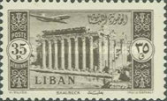 [Airmail - Temple of Bacchus at Baalbek and Litani Irrigation Canal, Typ XDU5]