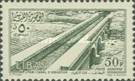[Airmail - Temple of Bacchus at Baalbek and Litani Irrigation Canal, Typ XDV]
