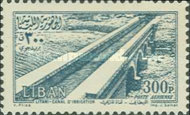 [Airmail - Temple of Bacchus at Baalbek and Litani Irrigation Canal, Typ XDV3]
