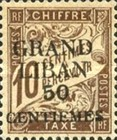 [French Postage Due Stamps of 1893-1926 Surcharged, type A]