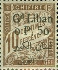 [French Postage Due Stamps of 1893-1926 Surcharged, type B]