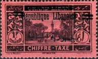 [Postage Due Stamps of 1927 Overprinted in Red or Black, Typ E1]