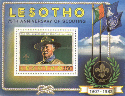 [The 75th Anniversary of Boy Scout Movement, type ]