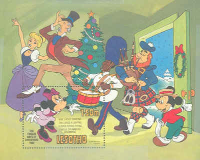 [Christmas - Walt Disney Figures Presenting the Song