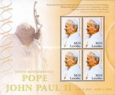 [Pope John Paul II Commemoration, 1920-2005, type ]