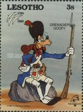 """[International Stamp Exhibition """"PHILEXFRANCE '89"""" - Paris, France - The 200th Anniversary of the French Revolution - Walt Disney Figures in Uniforms, type ABO]"""