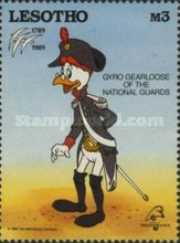 """[International Stamp Exhibition """"PHILEXFRANCE '89"""" - Paris, France - The 200th Anniversary of the French Revolution - Walt Disney Figures in Uniforms, type ABS]"""