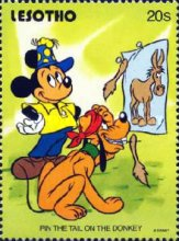 [Walt Disney Characters and Children's Games, type AHY]