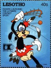 "[International Stamp Exhibition ""WORLD COLUMBIAN STAMP '92"" - Chicago, U.S.A. - Walt Disney Characters as Indians, Typ AJN]"
