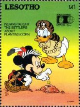 "[International Stamp Exhibition ""WORLD COLUMBIAN STAMP '92"" - Chicago, U.S.A. - Walt Disney Characters as Indians, Typ AJO]"