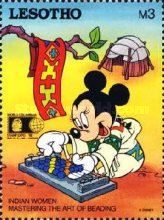 "[International Stamp Exhibition ""WORLD COLUMBIAN STAMP '92"" - Chicago, U.S.A. - Walt Disney Characters as Indians, Typ AJP]"