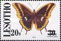 [Butterflies - Previous Stamps Surcharged, Typ AOM]