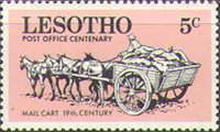 [The 100th Year of Postal Service in Lesotho, Typ DG]
