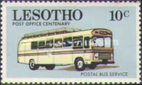 [The 100th Year of Postal Service in Lesotho, Typ DH]