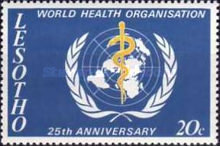 [The 25th Anniversary of World Health Organization, Typ DP]