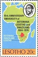 [The 10th Anniversary of the University of Botswana, Lesotho, and Swaziland, type EQ]