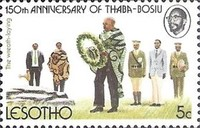 [The 150th Anniversary of Establishment of Thaba-Bosiu as Capital, type FD]