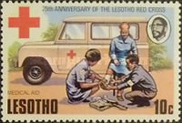 [The 25th Anniversary of Lesotho Red Cross, type GC]