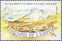 [The 150th Anniversary of Arrival of the French Missionaries, Typ OS]