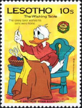 [Christmas - The 200th Anniversary of the Birth of Jacob Grimm, 1785-1863 - Walt Disney Figures, Typ TJ]