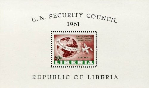 [Airmail - Liberia's Membership in the Security Council, type ]