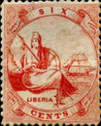 [Liberia - Stamps Printed 1½-2mm Apart on Thick Greyish White Paper, type A]
