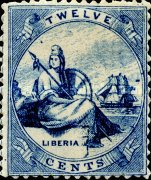 [Liberia - Stamps Printed 1½-2mm Apart on Thick Greyish White Paper, type A1]