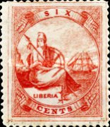 [Liberia - Stamps Printed 4-6mm Apart. with Extra Frame Line. Wove Paper, type A3]