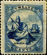 [Liberia - Stamps Printed 4-6mm Apart. with Extra Frame Line. Wove Paper, type A4]