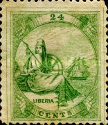 [Liberia - Stamps Printed 4-6mm Apart. with Extra Frame Line. Wove Paper, type A5]