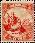 [Liberia - Stamps Printed 2-2½mm Apart without Frame Line. Thin Soft Paper, type A6]