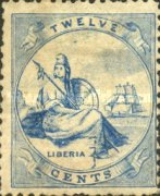[Liberia - Stamps Printed 2-2½mm Apart without Frame Line. Thin Soft Paper, type A7]