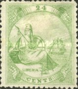 [Liberia - Stamps Printed 2-2½mm Apart without Frame Line. Thin Soft Paper, type A8]