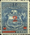 [Postage and Postage Due Stamps Surcharged, type AN2]