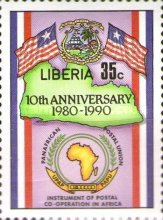 [The 10th Anniversary of Pan-African Postal Union, type ASC]