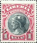[Stamps of 1906 Surcharged, type BU]